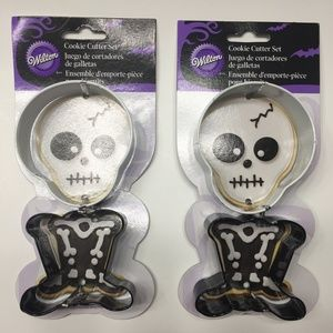 Wilton Cookie Cutters Halloween Skull Body Bones